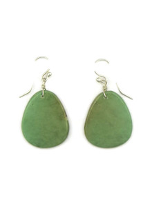 Turquoise Slab Earrings by Ronald Chavez (ER4129)