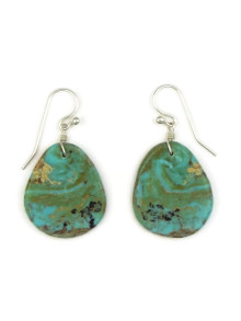 Turquoise Slab Earrings by Ronald Chavez (ER4135)