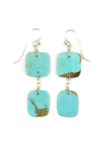 Turquoise Double Slab Earrings by Ronald Chavez (ER4136)