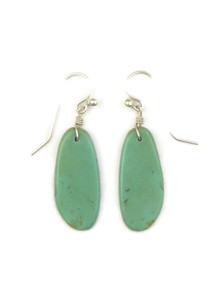 Turquoise Slab Earrings by Ronald Chavez (ER4137)