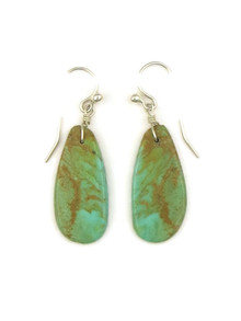 Turquoise Slab Earrings by Ronald Chavez (ER4138)