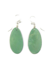 Turquoise Slab Earrings by Ronald Chavez (ER4139)