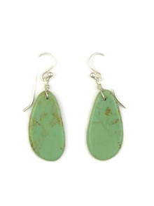 Turquoise Slab Earrings by Ronald Chavez (ER4140)