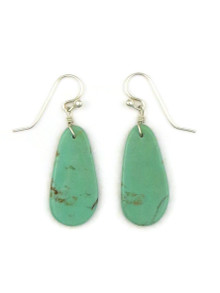 Turquoise Slab Earrings by Ronald Chavez (ER4142)