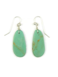 Turquoise Slab Earrings by Ronald Chavez (ER4143)
