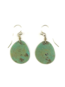 Turquoise Slab Earrings by Ronald Chavez (ER4144)