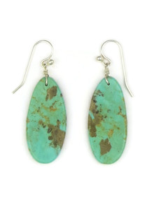Turquoise Slab Earrings by Ronald Chavez (ER4149)