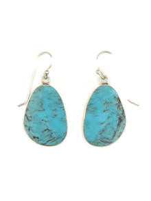 Silver & Turquoise Slab Earrings by Ronald Chavez (ER4150)