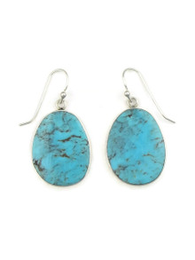 Silver & Turquoise Slab Earrings by Ronald Chavez (ER4151)