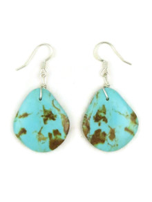 Turquoise Slab Earrings by Julian Coriz (ER4166)