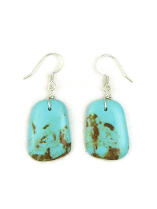 Turquoise Slab Earrings by Julian Coriz (ER4167)