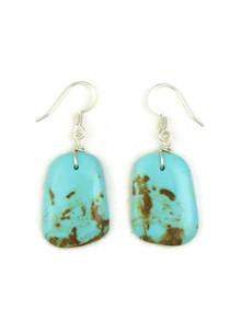 Turquoise Slab Earrings by Julian Coriz (ER4167)