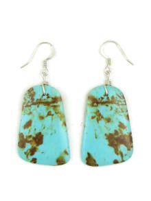 Turquoise Slab Earrings by Julian Coriz (ER4168)
