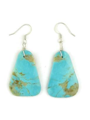 Turquoise Slab Earrings by Julian Coriz (ER4169)