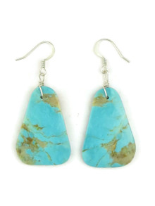Turquoise Slab Earrings by Julian Coriz (ER4169)