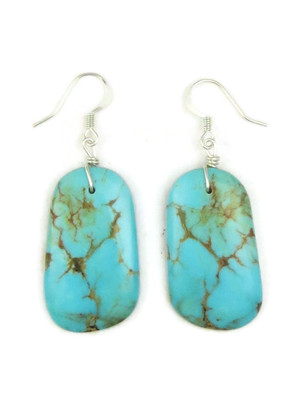 Turquoise Slab Earrings by Julian Coriz (ER4171)