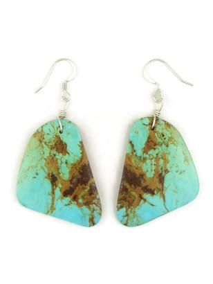 Turquoise Slab Earrings by Julian Coriz (ER4172)