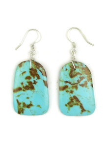 Turquoise Slab Earrings by Julian Coriz (ER4174)