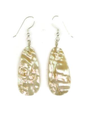 Mother of Pearl Shell Slab Earrings by Robert Nieto (ER4177)