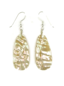 Mother of Pearl Shell Slab Earrings by Robert Nieto (ER4177)