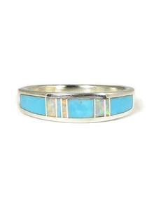 Turquoise & Opal Inlay Ring Size 7 (RG4986-7)