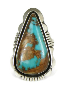 Royston Turquoise Ring Size 7 1/2 by Cooper Willie (RG4992)