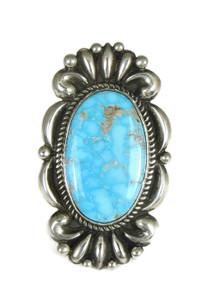 Water Web Kingman Turquoise Ring Size 6 1/2 by Albert Jake (RG4999)