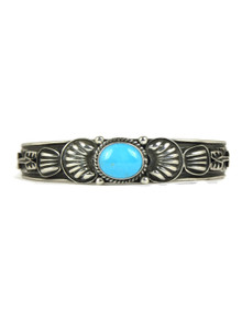 Sleeping Beauty Turquoise Bracelet with Arrows by Tsosie White (BR4332)