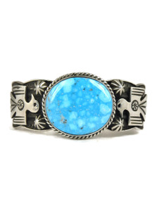Water Web Kingman Turquoise Thunderbird Bracelet by Andy Cadman (BR4335)