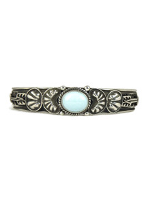 Dry Creek Turquoise Bracelet with Arrows by Tsosie White (BR4338)