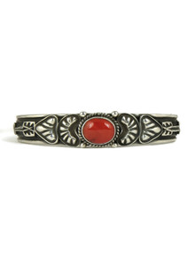 Mediterranean Coral Bracelet with Arrows by Tsosie White (BR4339)