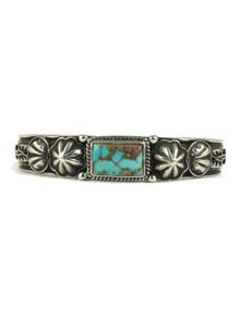 Pilot Mountain Turquoise Bracelet with Arrows by Tsosie White (BR4341)