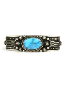 Kingman Turquoise Bracelet with Arrows by Happy Piaso (BR4342)