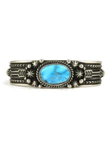 Kingman Turquoise Bracelet with Arrows by Happy Piaso (BR4342)