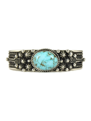 Pilot Mountain Turquoise Bracelet with Arrows by Happy Piaso (BR4343)