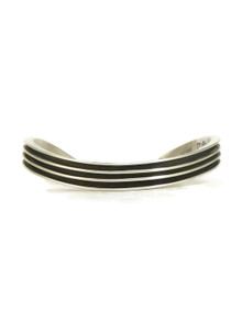 Curved Silver Channel Bracelet by Francis Jones