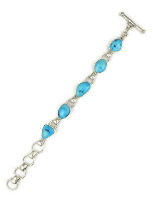 Sleeping Beauty Turquoise Link Bracelet by Lyle Piaso (BR6113)