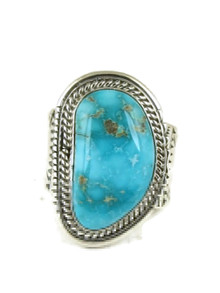Arizona South Hills Turquoise Ring Size 13 1/2 by Joe Piaso Jr.