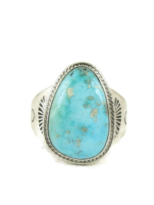 Kingman Turquoise Ring Size 13 1/4 y Joe Piaso Jr (RG5026)