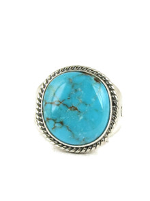 Candalaria Turquoise Ring Size 10 by Joe Piaso Jr.