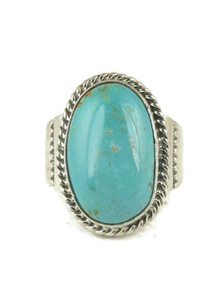 Number 8 Turquoise Ring Size 12 by Lyle Piaso