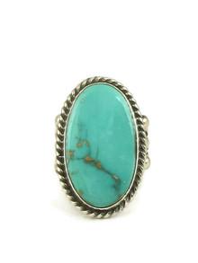 Royston Turquoise Ring Size 7 1/2 by Linda Yazzie (RG5033)
