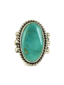 Royston Turquoise Ring Size 7 1/2 by Linda Yazzie (RG5034)