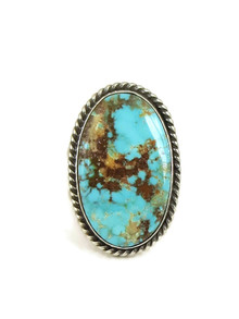 Pilot Mountain Turquoise Ring Size 9 1/2 by Linda Yazzie (RG5035)