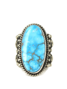 Natural Kingman Turquoise Ring Size 9 by Albert Jake (RG5041)