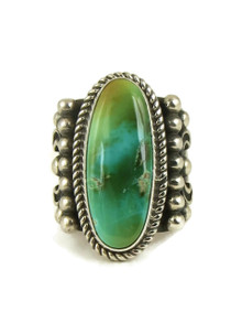 Two-Tone Royston Turquoise Ring Size 8 1/2 by Albert Jake (RG5042)