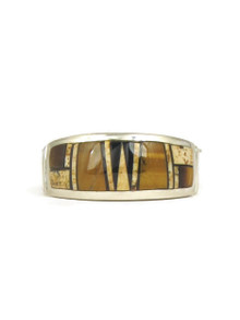 Jasper & Tiger Eye Inlay Band Ring Size 9 1/2 (RG5048)