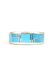 Kingman Turquoise Inlay Ring Size 7 (RG5055)