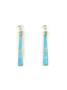 Turquoise Inlay Earrings by Rick Tobias (ER4186)
