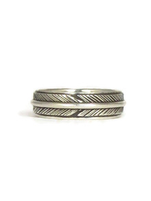 Silver Feather Band Ring Size 11 (RG5059-S11)